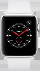 Apple Watch Series 3 Aluminium-42 mm, Armband-Sport-Weiß, GPS und Cellular Silber Katalog