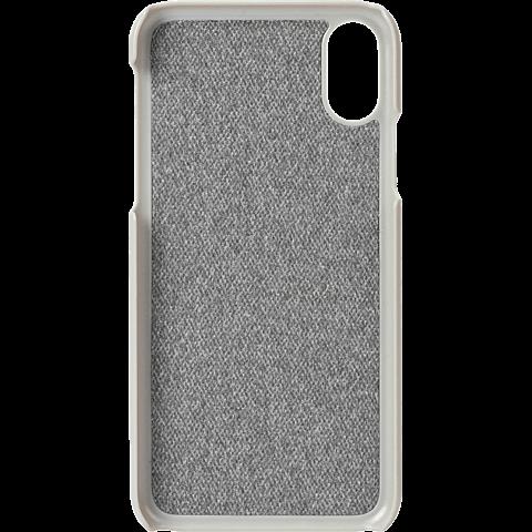 Krusell Tanum Cover Apple iPhone XS - Grey Nude 99928353 hinten