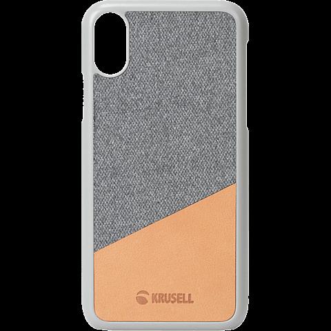 Krusell Tanum Cover Apple iPhone XS - Grey Nude 99928353 vorne