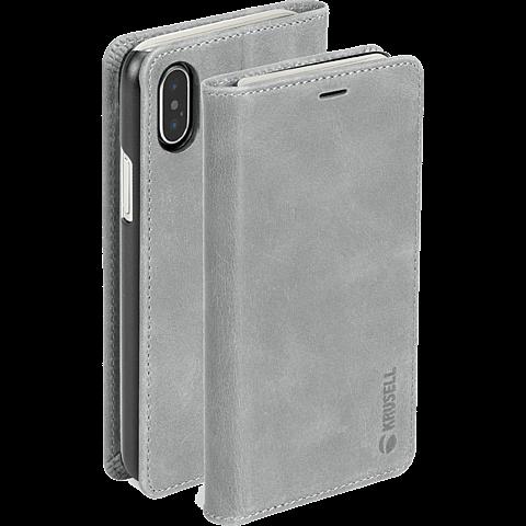 Krusell Sunne 4 Card Folio Wallet Apple iPhone XS Max - Grau 99928367 seitlich