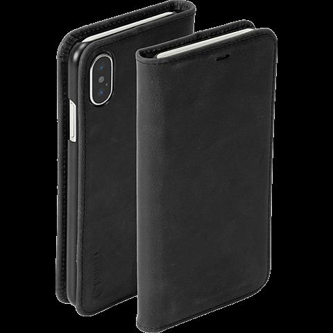 Krusell Sunne 4 Card Folio Wallet Apple iPhone XS - Schwarz 99928359 seitlich