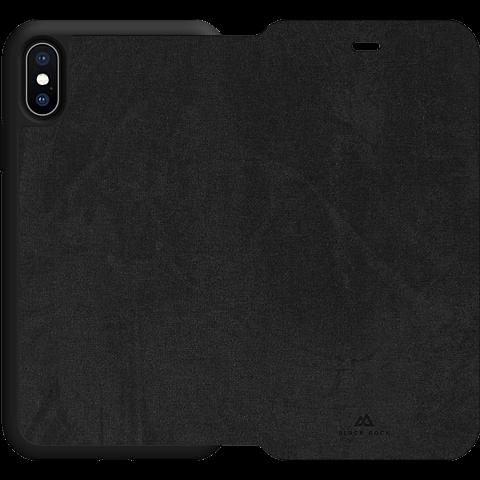 Black Rock Statement Booklet Apple iPhone XS Max - Schwarz 99928304 hinten