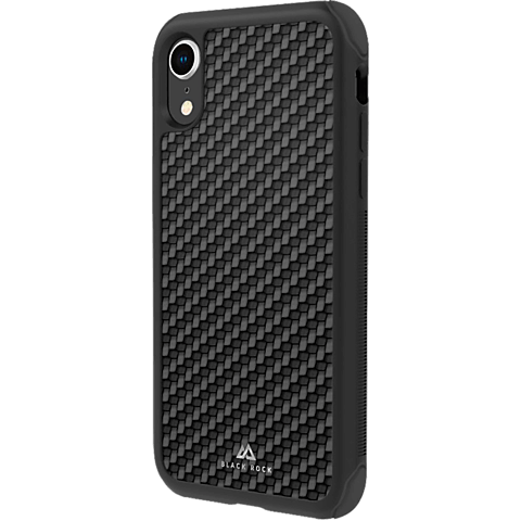 Black Rock Robust Real Carbon Case Apple iPhone XR - Schwarz 99928333 vorne