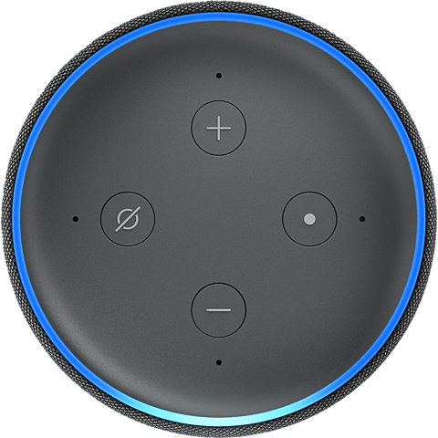 Amazon Echo Dot (3. Gen.) -  Anthrazit 99928598 seitlich