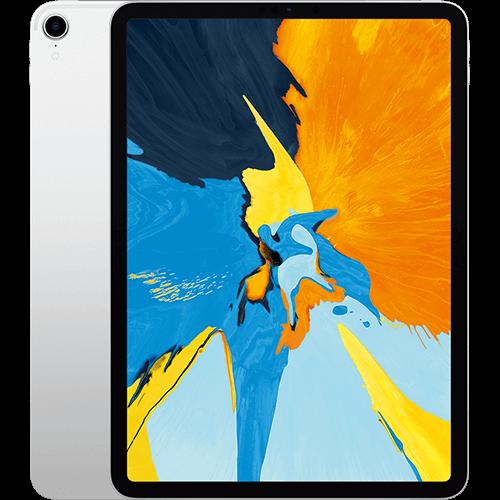 Apple 11'' iPad Pro WiFi und Cellular Silber Vorne und Hinten