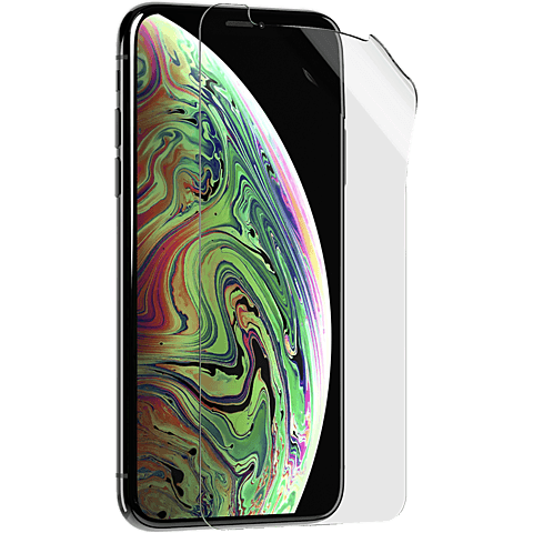 Tech21 Impact Shield Displayschutzfolie Apple iPhone XS Transparent 99928608 seitlich