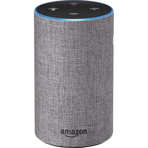 Amazon Echo (2. Gen.) Hellgrau vorne 99928601