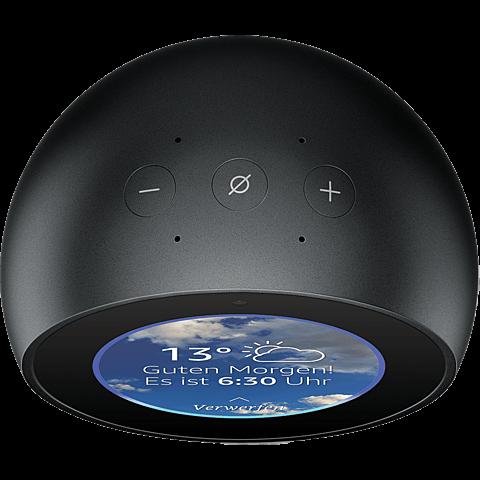 Amazon Echo Spot - Schwarz 99928602 hinten