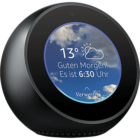 Amazon Echo Spot - Schwarz 99928602 seitlich
