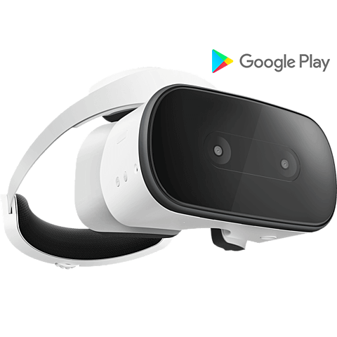 Lenovo Mirage Solo VR-Headset Moonlight Weiß 99928036 vorne Aktion