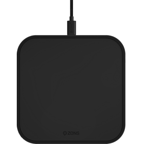ZENS Aluminium Single Fast Wireless Charger 99928427 seitlich