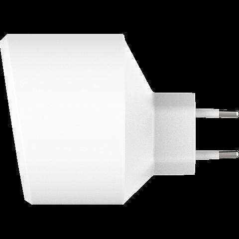 xqisit Schnelllader 5,4A Dual USB+Qualcomm QC3.0 99928169 seitlich