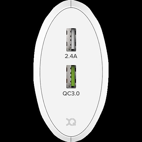 xqisit Schnelllader 5,4A Dual USB+Qualcomm QC3.0 99928169 hinten