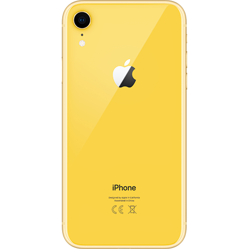 Apple iPhone XR Gelb Hinten