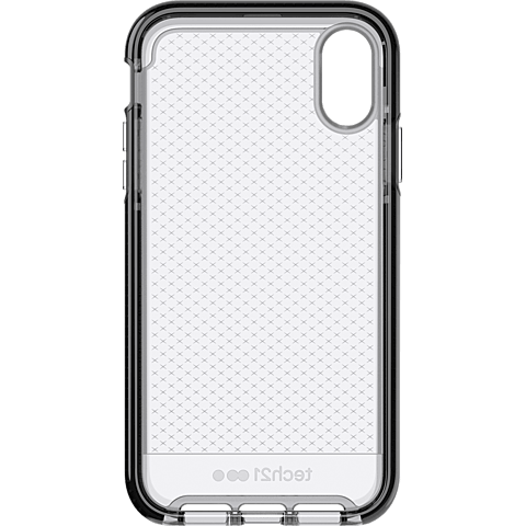 Tech21 Evo Check Hülle Apple iPhone XR - SmokeyBlack vorne 99928741