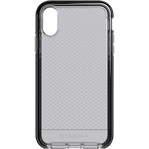Tech21 Evo Check Hülle Apple iPhone XR - SmokeyBlack hinten 99928741