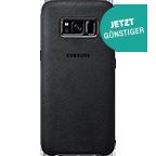 Samsung Alcantara Cover Samsung Galaxy S8 - Silbergrau vorne 99926486