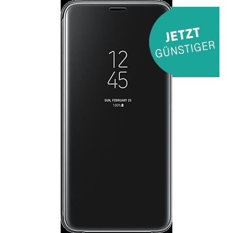 Samsung Clear View Cover Schwarz Galaxy S9 vorne 99927653