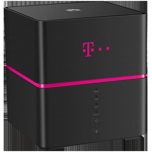 Telekom Speedbox Schwarz Vorne und Hinten