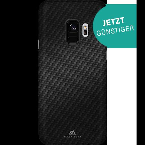 Black Rock Ultra Thin Iced Case Carbon Schwarz Samsung Galaxy S9 99927628 vorne aktion