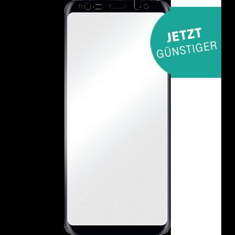 Displex Full Screen Glas Samsung Galaxy S9 Plus Schwarz 99927631 vorne aktion