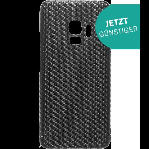 Viversis Carbon Cover Schwarz Samsung Galaxy S9 99927727 vorne aktion