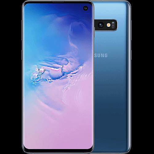 Samsung Galaxy S10 Prism Blue Vorne und Hinten
