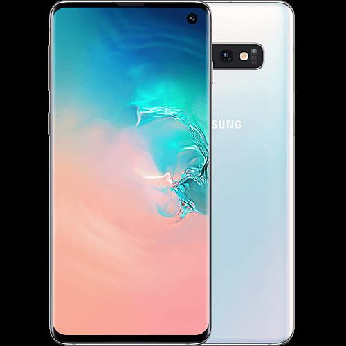 Samsung Galaxy S10 Prism White Vorne und Hinten