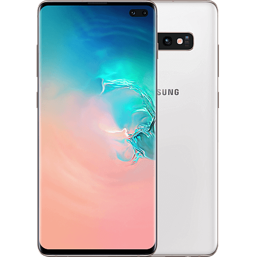 Samsung Galaxy S10+ Ceramic White Vorne und Hinten