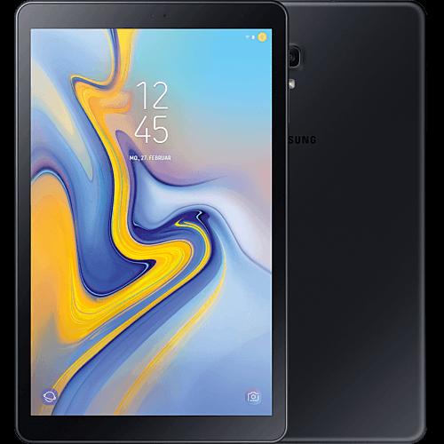 Samsung Galaxy Tab A 10.5 LTE Schwarz Vorne und Hinten