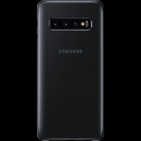 Samsung Clear View Cover Galaxy S10 - Schwarz 99928902 hinten