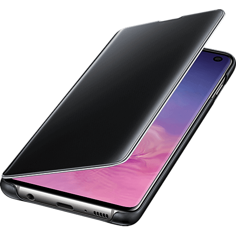 Samsung Clear View Cover Galaxy S10 - Schwarz 99928902 seitlich