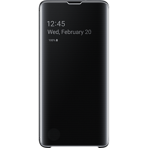 Samsung Clear View Cover Galaxy S10 - Schwarz 99928902 vorne