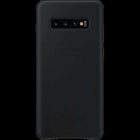 Samsung Leder Cover Galaxy S10+ - Schwarz 99928910 vorne