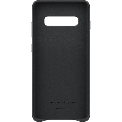 Samsung Leder Cover Galaxy S10+ - Schwarz 99928910 hinten