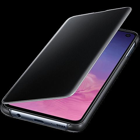 Samsung Clear View Cover Galaxy S10e - Schwarz 99928897 seitlich