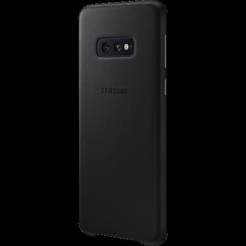 Samsung Leder Cover Galaxy S10e - Schwarz 99928900 seitlich