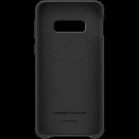 Samsung Leder Cover Galaxy S10e - Schwarz 99928900 hinten
