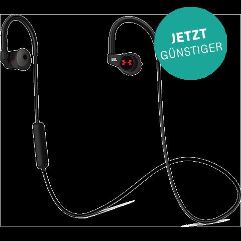 JBL Under Armour Heartrate In-Ear-Bluetooth Kopfhoerer Schwarz 99925497 vorne aktion