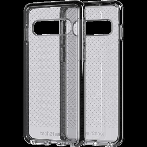 Tech21 Evo Check Hülle Samsung Galaxy S10 - Schwarz 99928879 hinten