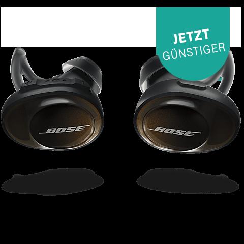 BOSE SoundSport Free Wireless Headphones Schwarz 99928125 vorne