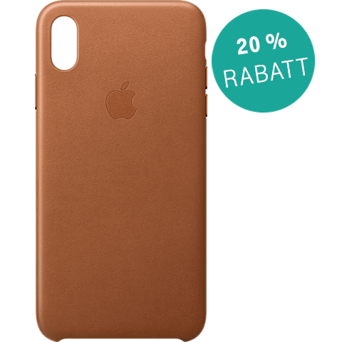 Apple Leder Case iPhone XS Max - Sattelbraun 99928483 vorne