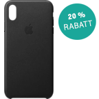 Apple Leder Case iPhone XS Max - Schwarz 99928482 kategorie