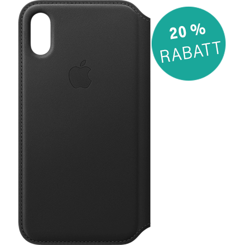 Apple Leder Folio Case iPhone XS - Schwarz 99928476 vorne