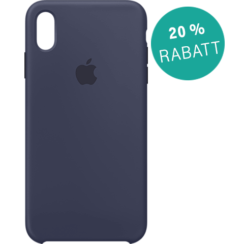 Apple Silikon Case iPhone XS Max - Mitternachtsblau 99928479 vorne