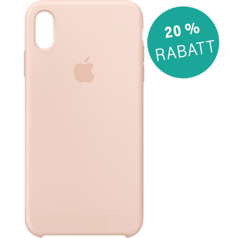 Apple Silikon Case iPhone XS Max - Sandrosa 99928478 vorne