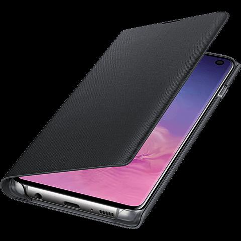 Samsung LED View Cover Galaxy S10 - Schwarz 99928905 seitlich