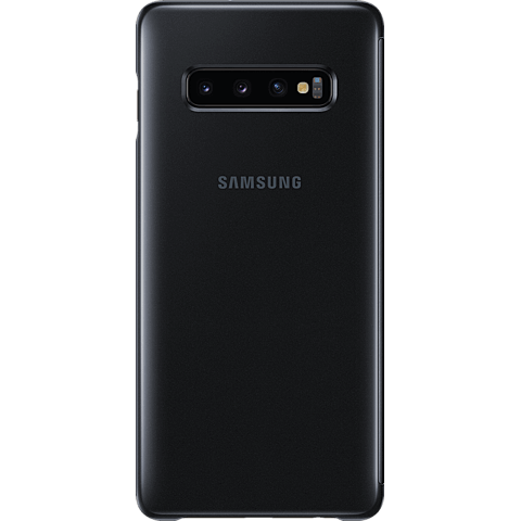 Samsung Clear View Cover Galaxy S10+ - Schwarz 99928906 hinten