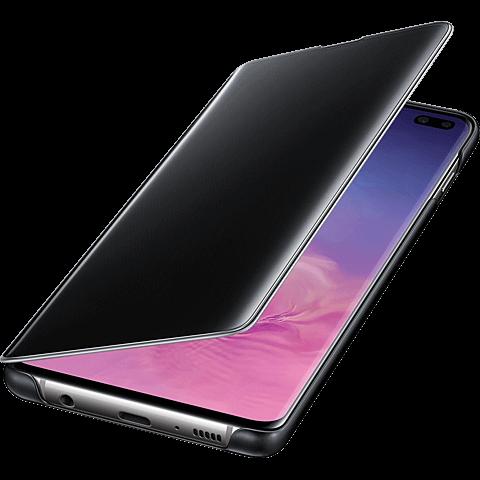 Samsung Clear View Cover Galaxy S10+ - Schwarz 99928906 seitlich