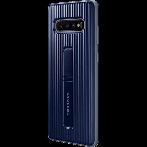 Samsung Protective Standing Cover Galaxy S10+ - Schwarz 99929141 seitlich